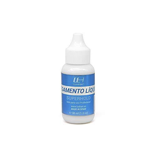 Pegamento líquido SuperHold LuxHair para reemplazo de Sistemas de Prótesis Capilares - Hair Replacement | Pegamentos Capilares | Adhesivos Pelo y Cabello | Productos de Mantenimiento y Colocación