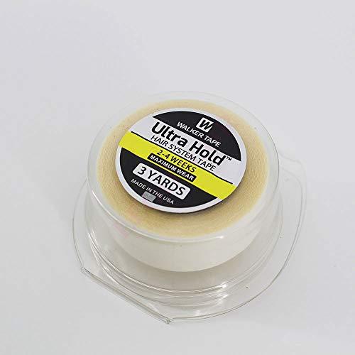 'Ultra Hold' Walker doble cara rollo cintas pegatinas adhesivo hombres sistema prótesis capilares pelo cabello reemplazo toupee peluca extensión pelo(3 yardas & 3/4 pulgadas)