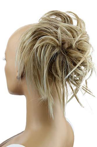 PRETTYSHOP XXL Postizo Coletero Peinado alto, VOLUMINOSO, rizado, Moño descuidado mezcla rubia # 27BT88 G13F