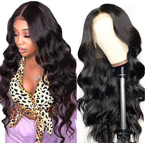 Ruiyu 360 Lace Frontal Peluca Pre Zupfte con Babyhaar Brasileña Körperwelle peluca de puntilla humano peluca para mujeres negras