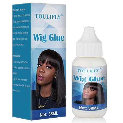 Pegamento para Pelucas,Pegamento para Pelucas y Frontales,Wig Glue,Adhesivo para Pelucas,Pegamento para Pelucas de Encaje,Lace Glue,para Suplemento de Cabello,Lace-front Wig y Peluca,38ML