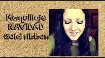 Maquillaje navidad-Gold ribbon